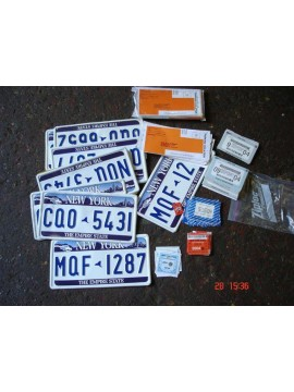 New York Car Plates and Tax Disks